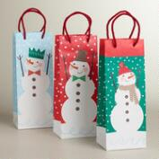 Snowmen Value Wine Bags, 3-Pack