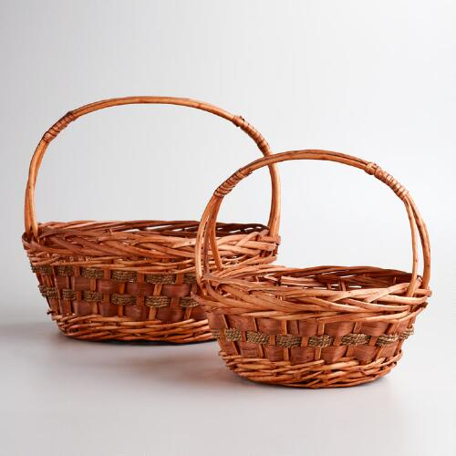 Willow and Seagrass Baskets