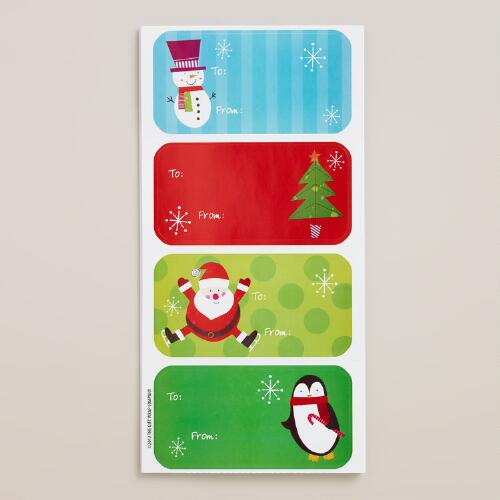 Juvenile Holiday Gift Labels, 24-Pack