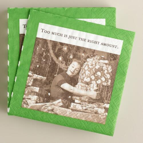 "Shannon Martin ""Just the Right Amount"" Napkins, 20-Count"