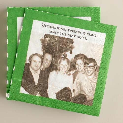 "Shannon Martin ""Friends & Family"" Beverage Napkins, 20-Count"