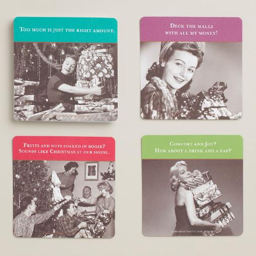 """Shannon Martin """"Comfort and Joy"""" Coasters, 24-Pack"""