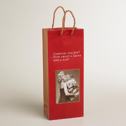 "Shannon Martin ""Comfort and Joy"" Wine Bag"