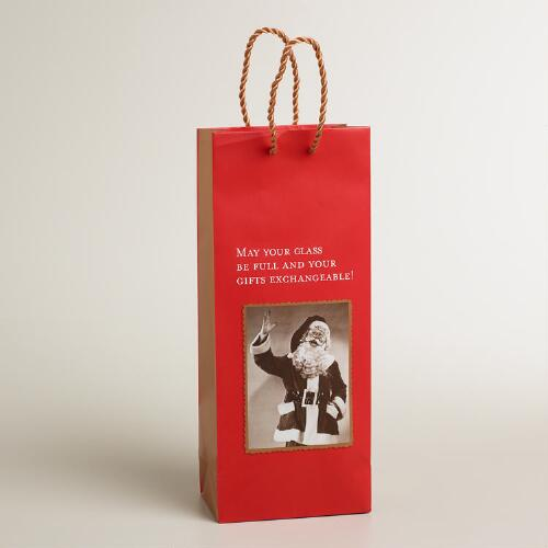 "Shannon Martin ""Gifts Exchangeable"" Wine Bag"