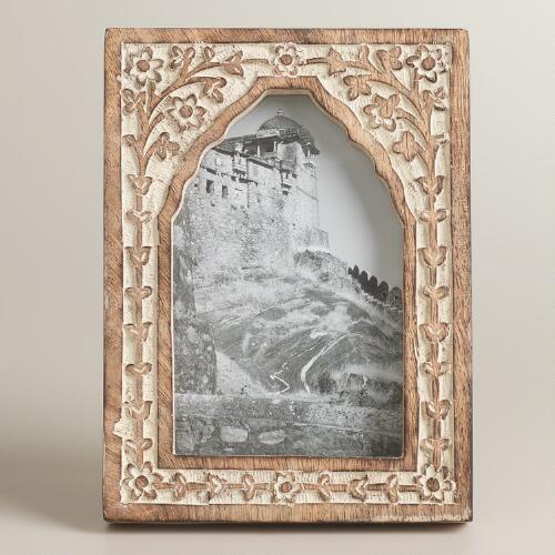 Whitewash Carved Rambagh Frame