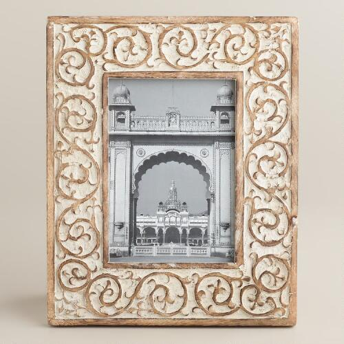 Whitewash Grace Swirl Frame