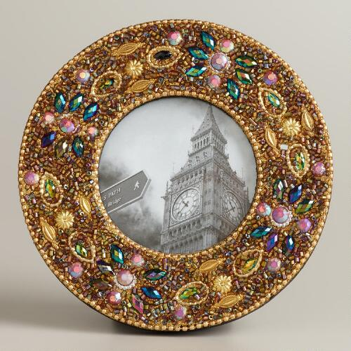 Gold Round Lac Molly Frame