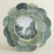 Gray Round Venya Scalloped Frame