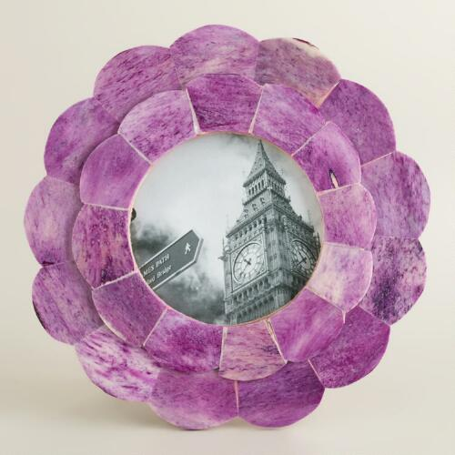 Purple Round Venya Scalloped Frame