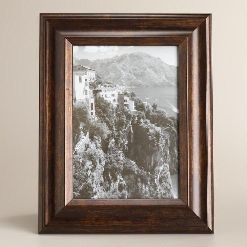 Walnut and Gold Positano Frame