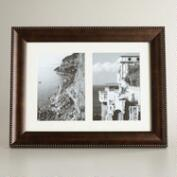 Walnut and Gold Double Sorrento Frame