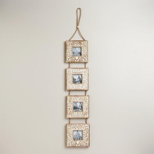 Square Hanging Wall Frames, Set of 4