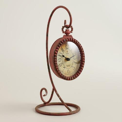 Red Liana Clock and Stand