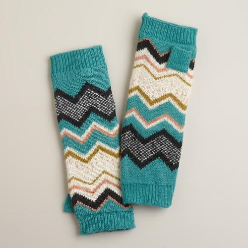Blue Chevron Arm Warmers