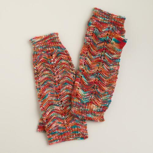 Multicolored Marled Arm Warmers