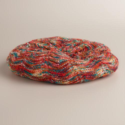 Multicolored Sequined Marled Hat