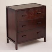 Dark Mahogany Chase 3-Drawer Dresser