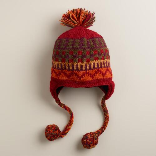 Red Fairisle Hat