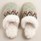 Oat Sherpa Slippers