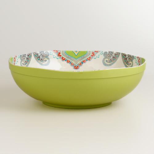 Green Santorini Serving Bowl