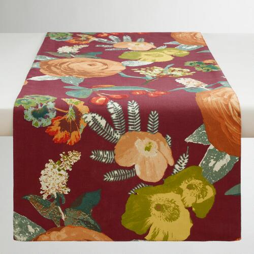 Autumnal Garden Table Runner
