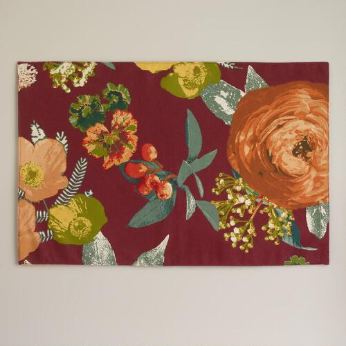 Autumnal Garden Placemats, Set of 4