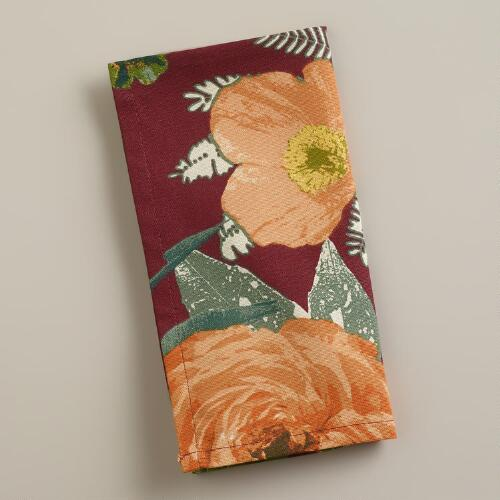 Autumnal Garden Napkins, Set of 4