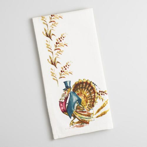 Mr. Turkey Napkins, Set of 4