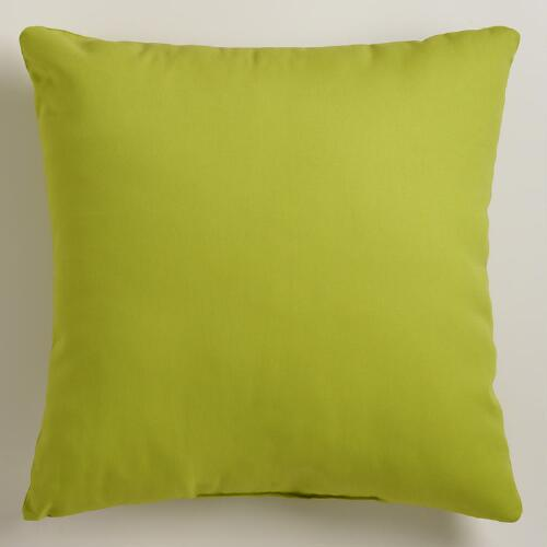 Green Outdoor Throw Pillows