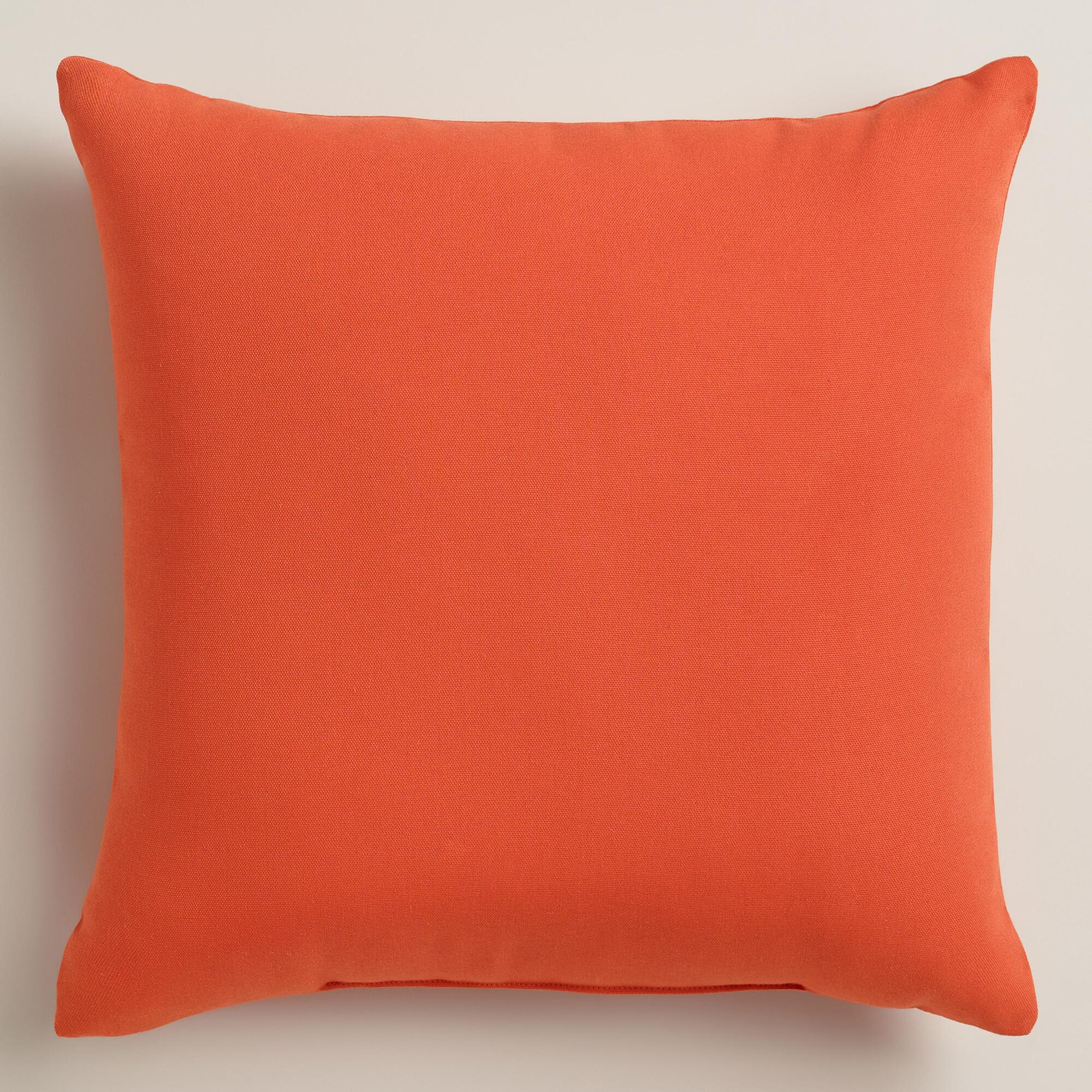 luxury images of orange outdoor pillows