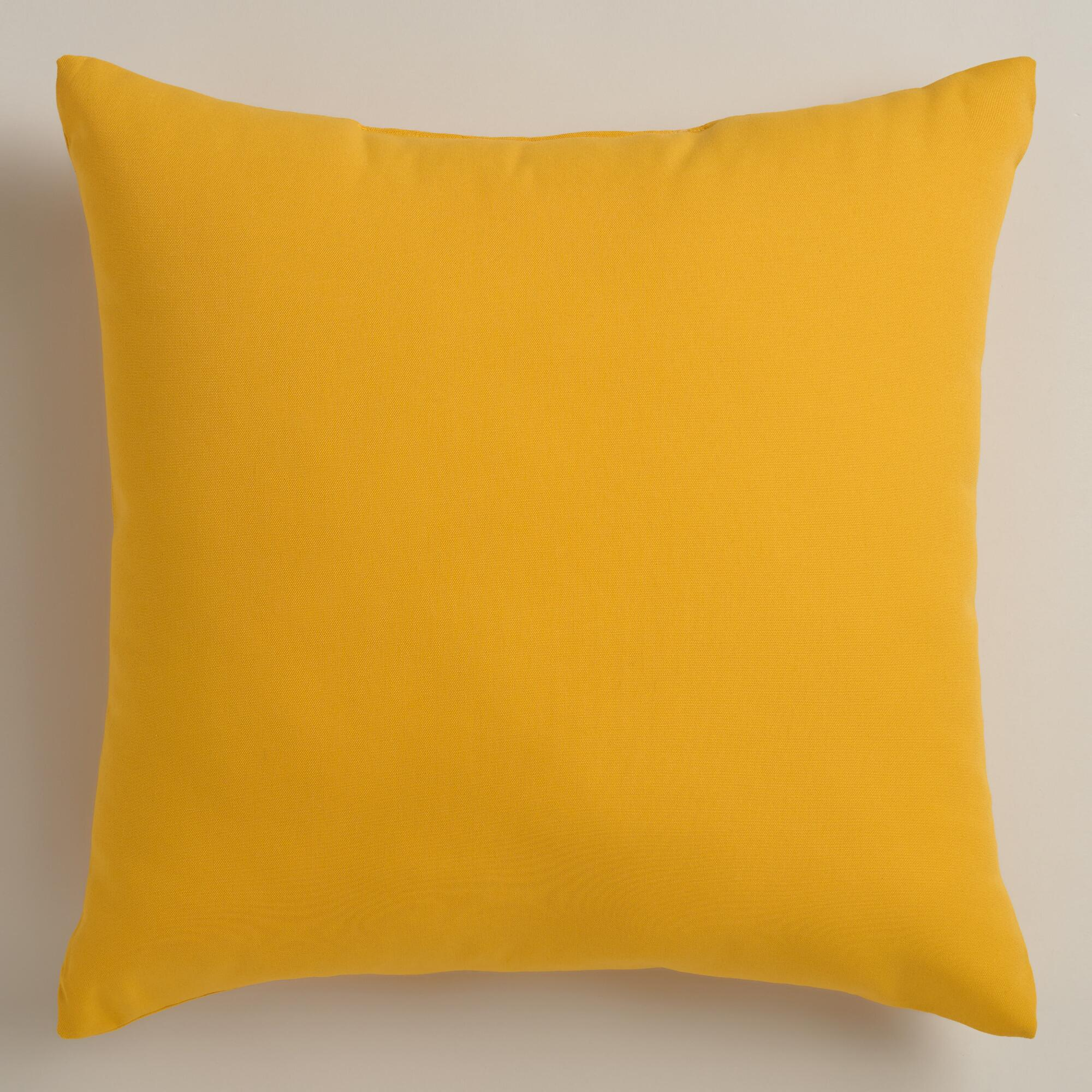 Decorative Pillow Yellow : Yellow Outdoor Throw Pillows World Market