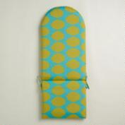 Green and Aqua Dotted Ikat Adirondack Outdoor Chair Cushion