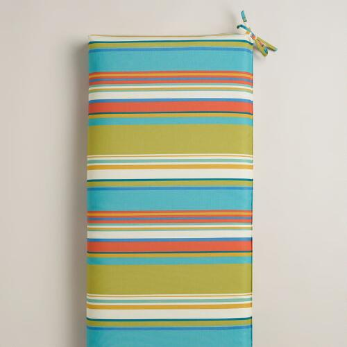 Striped Santorini Outdoor Bench Cushion