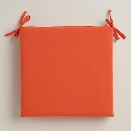Orange Outdoor Chair Cushion