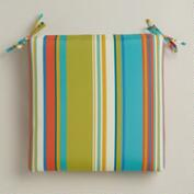 Striped Santorini Outdoor Chair Cushion