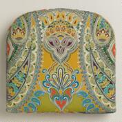 Venice Paisley Outdoor Gusset Chair Cushion