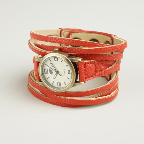 Red Multi-Strand Watch