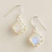 Sterling Silver Moonstone Drop Earrings