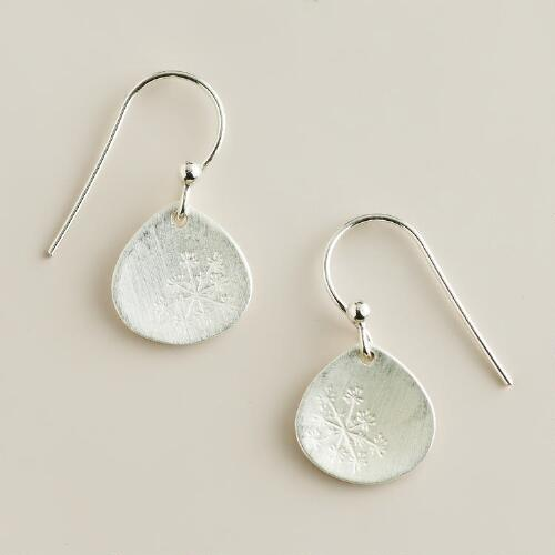 Sterling Silver Dandelion Drop Earrings