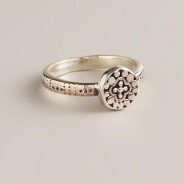 Small Sterling Silver Round Ring