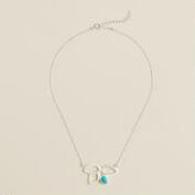 Sterling Silver Turquoise Lotus Necklace