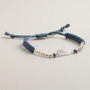 Silver and Gray Wings Friendship Bracelet
