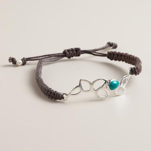 Sterling Silver Lotus Friendship Bracelet