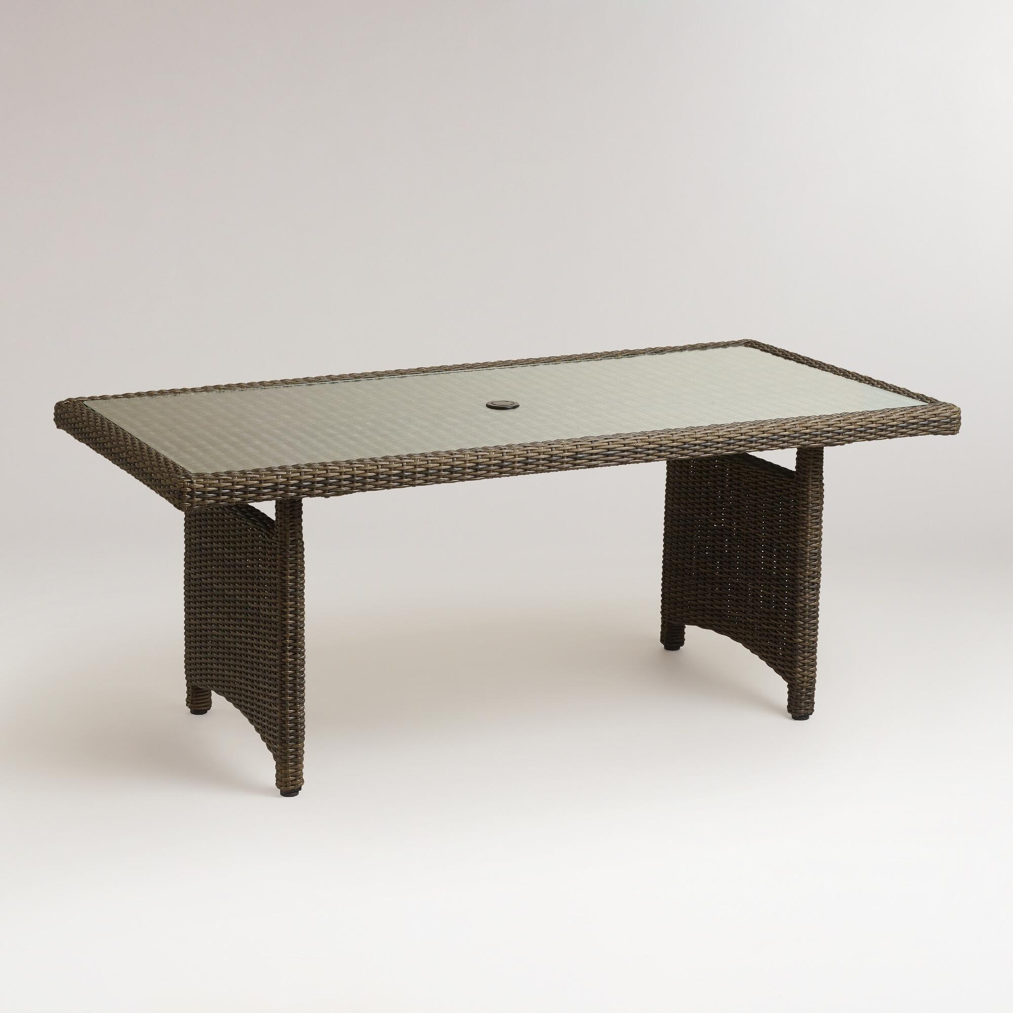 Solano All Weather Wicker Dining Table World Market