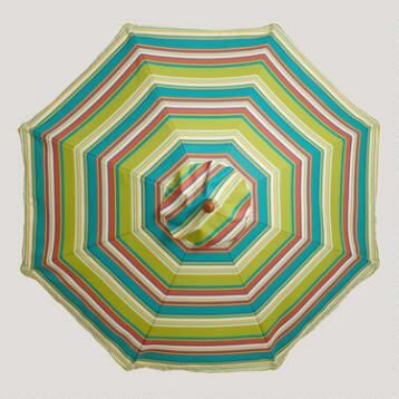 9' Thailand Stripe Umbrella Canopy