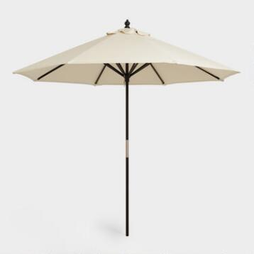 9' Black Umbrella Frame
