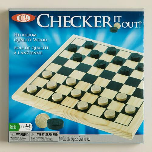 Ideal Checker It Out! Checkers Set