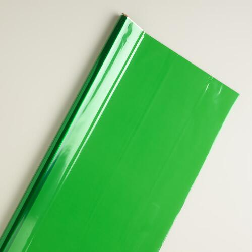 Green Cellophane Gift Wrap Roll