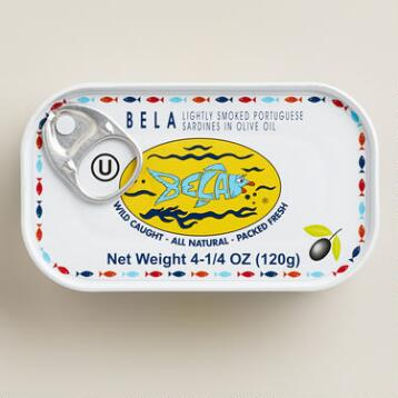Bela Smoked Sardines in Extra Virgin Olive Oil, Set of 6