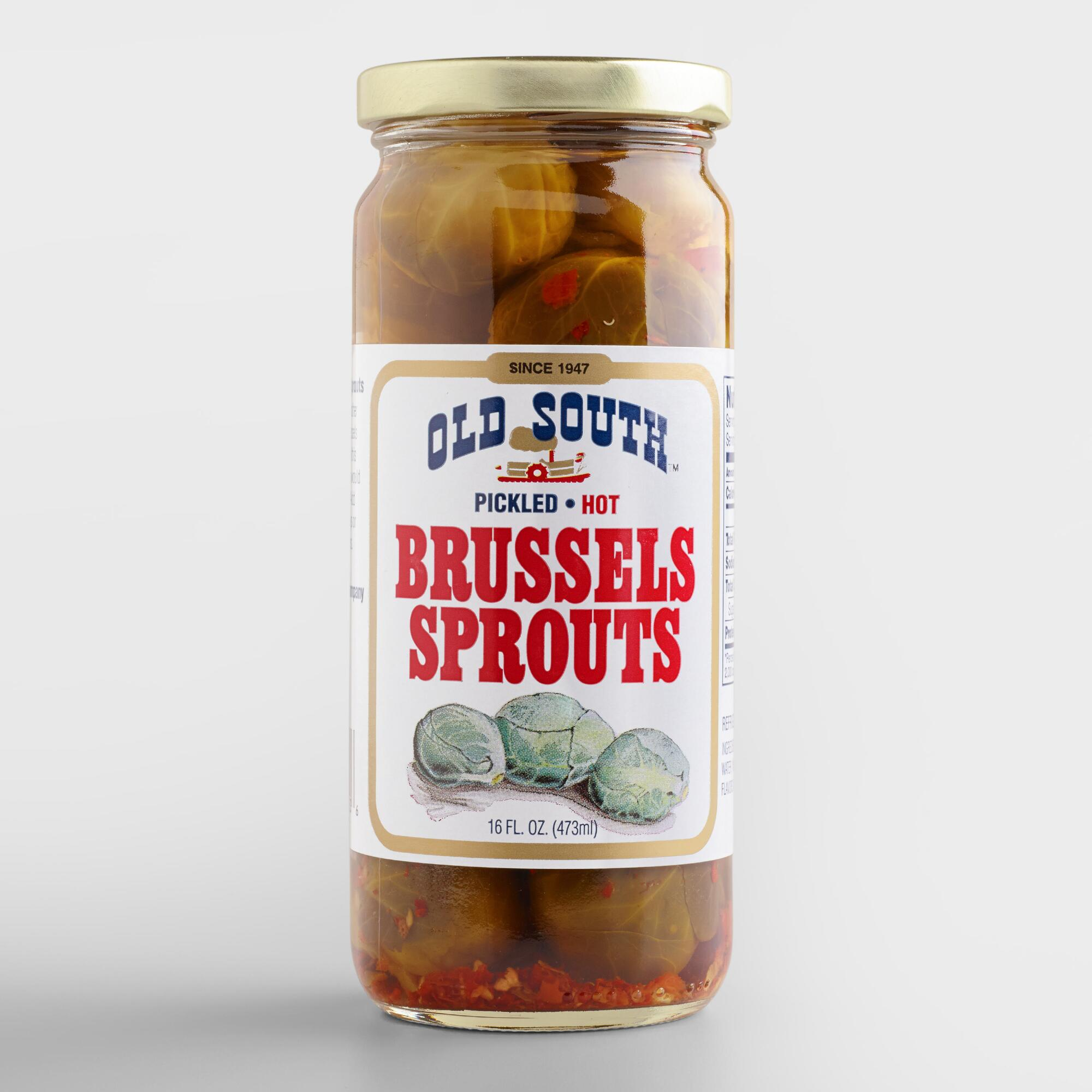 Old South Spicy Pickled Brussels Sprouts | World Market